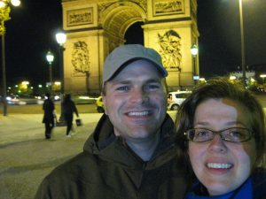l'Arc du Triomph after walking up the Champs Elysees