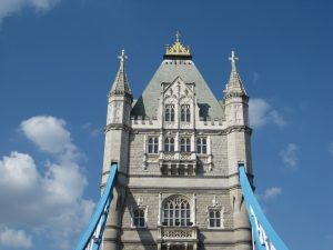 Actually, this is from Wednesday, but we ran out of internet time. It's the Tower Bridge from the tour bus.