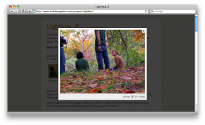 Lightbox JS displays full size images with JavaScript and CSS in an overlay instead of a new page view