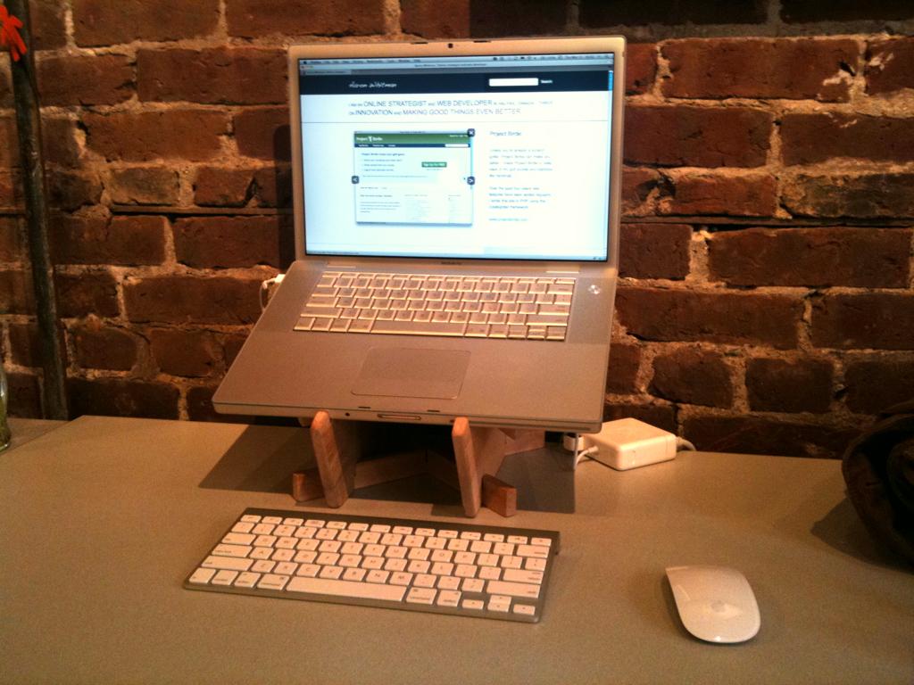 Diy Birch Laptop Stand Aaron Whitman