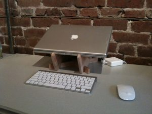 """Birch Laptop Stand Holds a 15"""" MacBook Pro, and up to 17"""""""